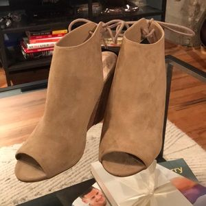 Forever 21 Nude Wedges Size 8 NWT